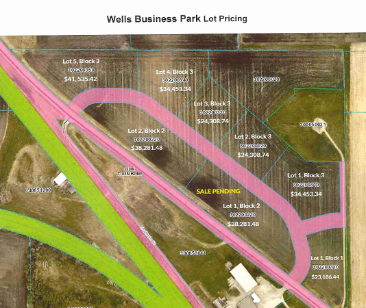 Wells Business Park Lot Pricing